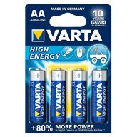 Батарейка щелочная AA VARTA High Energy /Германия